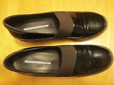 DONALD J. PLINER Black Nubuck Leather NOCOL Wedge Platform Shoes 9.5 M E2