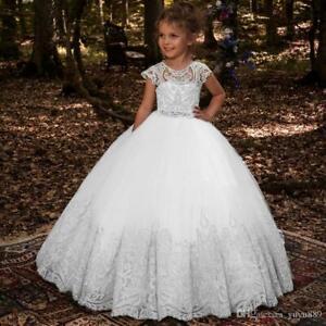 Communion Party Prom Princess Pageant Bridesmaid Wedding Flower Girl Dress++++