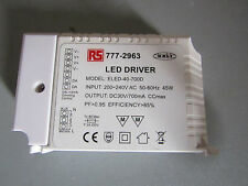 RS PRO Constant Current Dimmable LED Driver 40W 45-56V 0.7A, back 7772963