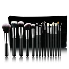 Professional 15PCs Makeup Brush Set Powder Cosmetic Tool Synthetic Bag Black Pop