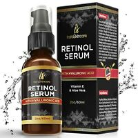 ❤❤❤ Retinol Serum For Face with Hyaluronic Acid Vitamin A E Aloe Vera Anti Aging
