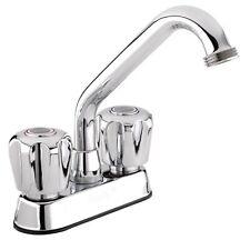 Belanger 3040W Polished Chrome 2-handle Laundry Tub Faucet Silver