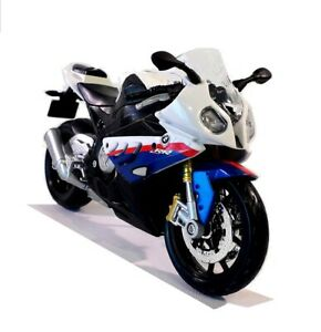 BMW S 1000 RR in White - 1:12 Die-Cast S1000RR Motorbike Model by Maisto - New