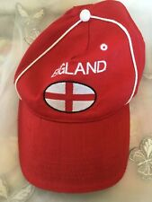 Retro England Football Cap Red Coloured One Size Fits All