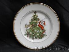 "Fitz & Floyd St. Nicholas Gold Trim: Salad Plate (s) 7 1/2"""
