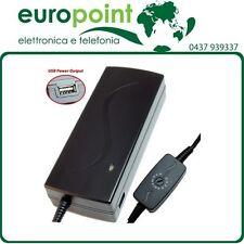 Alimentatore universale Switching x Notebook portatili 12-22V 6,5A 10plug e USB