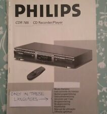 Philips CDR 765 CD Recorder/Player Instructions For Use manual (NOT in English)
