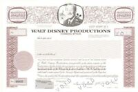 Walt Disney Productions - Stock Certificate