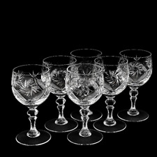 Set of crystal wine glasses for red wine, 6 pcs, 8.8 oz. RUSSIAN CRYSTAL