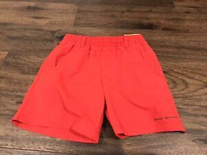 Columbia PFG Boys' Mesh Built In Briefs Omni Shade Shorts Size S Small Brick Red