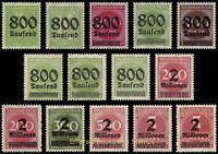 EBS Germany 1923 - Inflation Overprints (III) - Michel 301-312 MNH**