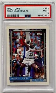1992 Topps Shaquille O'Neal #362 Rookie Card PSA 9 MINT