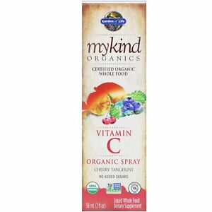 Garden of Life, MyKind Organics, Vitamin C Organic Spray, Cherry-Tangerine, 2 fl