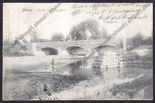 NOVARA MOMO 11 PONTE Torrente AGOGNA Cartolina VIAGGIATA 1906 Foto L. COLMA