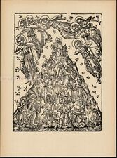 ELISABETH VOIGT - RESSURECTION OF CHRIST I * RELIGIOUS JESUS VERY RARE woodcut