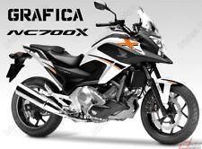 ADESIVI DECAL STICKERS HONDA NC700X NC 700 X RACING CARENA GRAFICA NERO ARANCIO