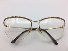 Marchon eyeglasses gold with black lace detail 55-16-130 made in Japan