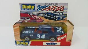 DINKY 201 PLYMOUTH GRAN FURY STOCK CAR - IN ORIGINAL BOX