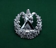 Anodised, The Cameron Highlanders - Genuine, British Army Military Cap Badge
