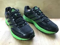 Mens Adidas Falcon Elite Running Trainers BLACK Green Trainers UK 10 EUR 44 2/3