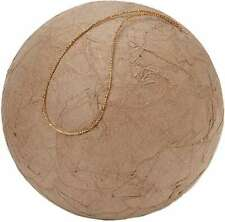 "Paper-Mache Wrinkled Ball Ornament 3.94"" 652695375521"