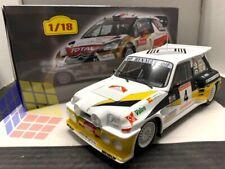 Coche Rally Renault 5 Maxi Turbo #4 - Rally 1986 - Carlos Sainz    (ESCALA 1/18)