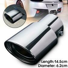 Universal Car Vehicle Round Stainless Steel Chrome Exhaust Tail Muffler Tip Pipe