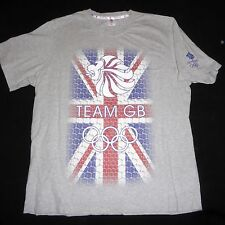 Team GB Britain Olympics Gray T Shirt Mens Extra Large XL Short Sleeve Cotton