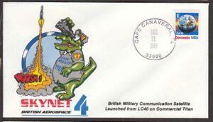 1984 SKYNET 4 British Aerospace Military Communications Satellite LC40 launch