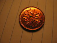 1945 Canada Small Cent Penny BU One Coin From Mint Roll.