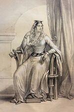 Reine Constance Roi Robert II le Pieux Francs héliogravure XIX e estampe France