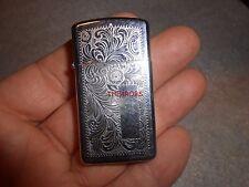 Zippo Slim Line Etched Pattern Cigarette Lighter