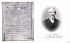 Burnley. William Whitham, Town Missionary Brunswick Town & Temperance Mission.