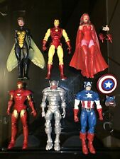 NEW marvel Legends Avengers Figure Lot Iron Man Ultron Scarlet Witch Cap