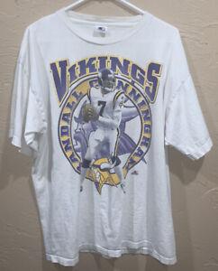 Vintage Starter Randall Cunningham Vikings Shirt Size Large QB CLUB NFL