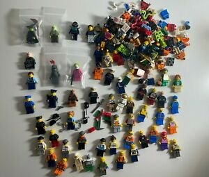 Lot of 50+ Lego Minifigures Plus Extra Parts And Pieces Star Wars, Ninjago, City