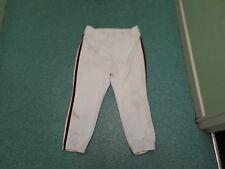 Vintage Rawlings blanco con rojo y negro rayas Culotte pirata Pantalones De Béisbol Ameriacan