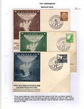 1938 Hindenburg Memorial Cards Frankfurt Germany