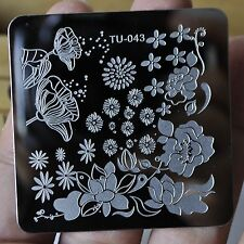 Lotus Pond Nail Art Image Printing Plate Metal Stamping Template Lady Nails TU43