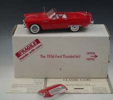 DANBURY MINT 1956 FORD THUNDERBIRD CONVERTIBLE MODEL RED 1:24 SCALE DIE CAST