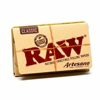 "10 Packs x RAW Artesano 1 1/4"" Rolling Papers with Tips & Rolling Tray"