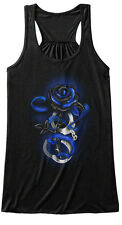 Rose Tattoo Police Thin Blue Line Bella Flowy Tank Tanktop