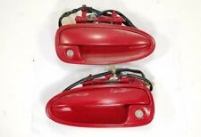 94-01 Acura Integra Front Driver Passenger Side Door Handle Pair OEM RED USED