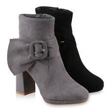 Damen Klassische Stiefeletten Schnallen Gefütterte 818240 Schuhe
