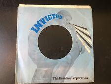 "INVICTUS RECORDS Company Sleeve for 7"" Vinyl  NO ADDRESS VG"