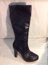 Principles Black Mid Calf Boots Size 6