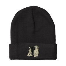 Beanies for Men Lowchen Dog Embroidery Winter Hats Women Acrylic Skull Cap