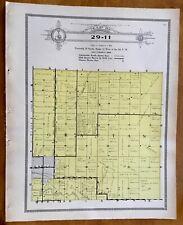 New Listing1915 Plat Map Twnsp 29-11 Grattan precinct, Holt County, Nebraska Ancestry