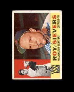 Roy Sievers Signed 1960 Topps Washington Senators Autograph