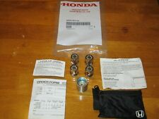 GENUINE OEM HONDA  --USED--  08W42-SCV-101 WHEEL LOCK SET--SEE VEHICLE LIST